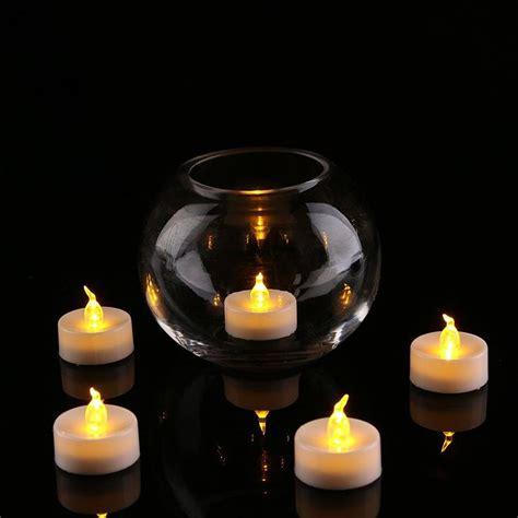 pcs led tea light batteries flickering flameless led