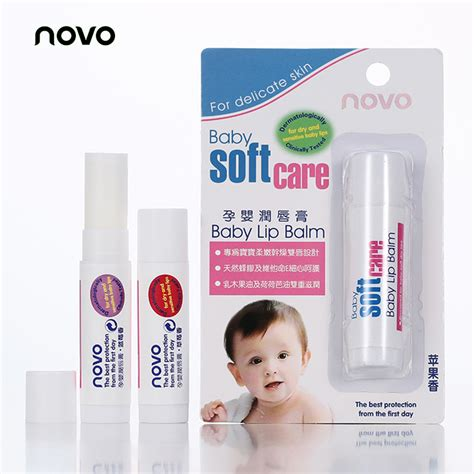 novo brand baby lip balm fruit tastes lipbalm colorless moisturizer repair care baby winter lip