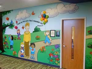 ralph voltz preschool wall murals daycare murals playroom mural