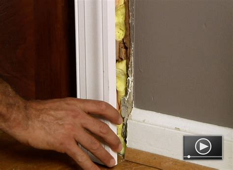 How To Replace Door Trim by How To Install Door Casing Buildipedia