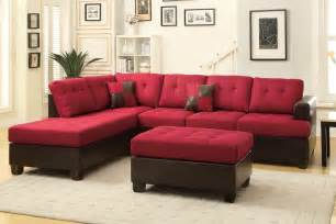 Sectional With Ottoman Poundex Moss F7601 Fabric Sectional Sofa And Ottoman A Sofa Furniture Outlet Los