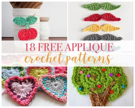 free applique crochet applique free pattern all about crochet ideas
