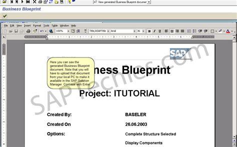 Create Blueprints Online define business blueprint sap solution manager 3 1