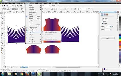 cara membuat desain jas dengan corel draw cara membuat desain jersey futsal dengan coreldraw