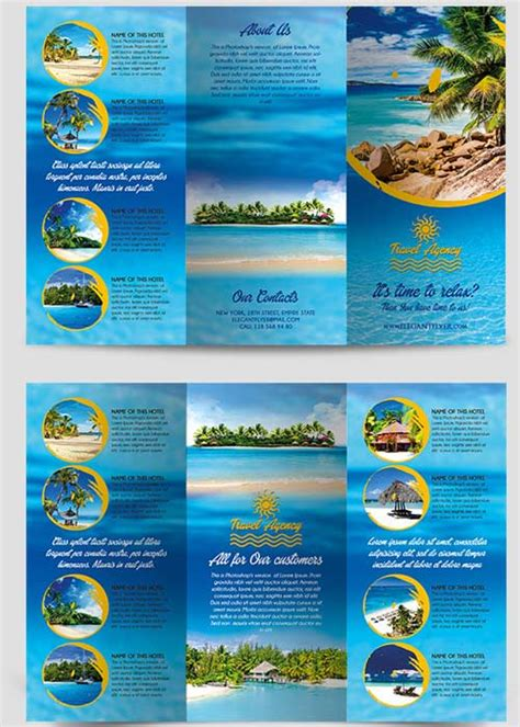 travel agency brochure template travel agency tri fold brochure psd template 187 free