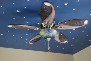 Solar System Ceiling Fan Fussy Monkey Business E S Space Themed Room