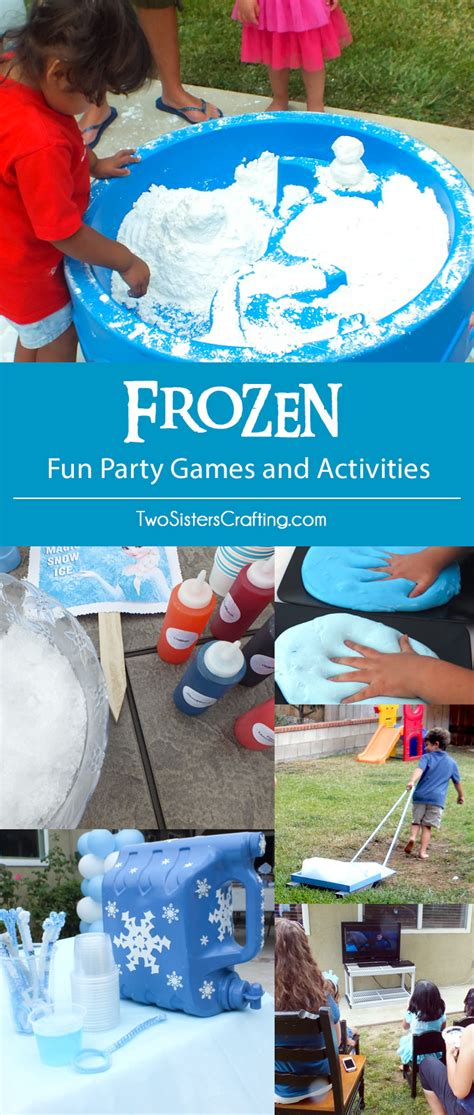 frozen themed party games frozen party games and activities two sisters