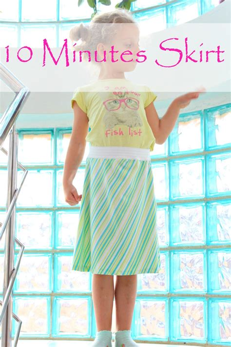 diy a line skirt with elastic waistband sewing tutorial