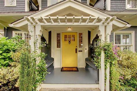 pergola yellow door home