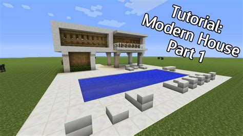 how to build a pool house minecraft how to build a modern house with pool part 1