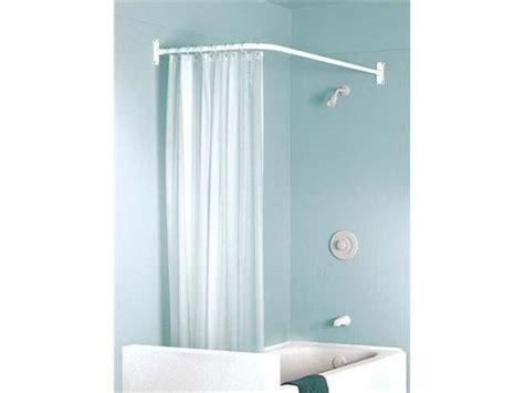 right angle shower curtain rod problem solvers 10 uniquely shaped shower curtain rods