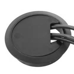 wall desk grommet for cable management 80mm black