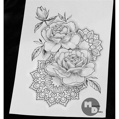 rose mandala tattoo the world s catalog of ideas