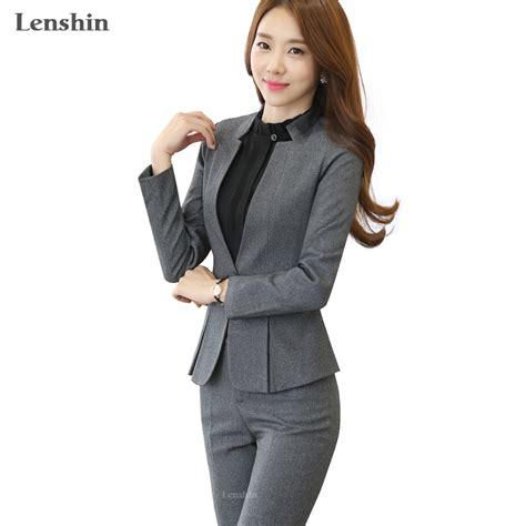 women working suits designs aliexpress com buy 2 piece gray pant suits formal ladies