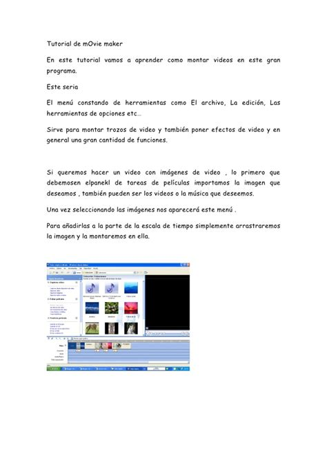 tutorial movie maker doc tutorial de movie maker