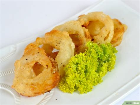 bahan untuk membuat onion ring 4 cara untuk membuat adonan onion ring wikihow