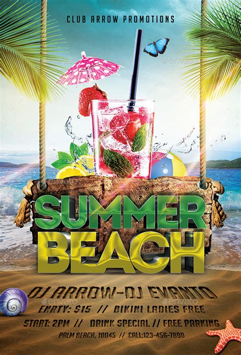 summer party flyer template free vector download 17 326 free vector
