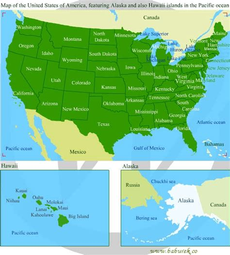 map of united states and surrounding oceans map of the united states of america