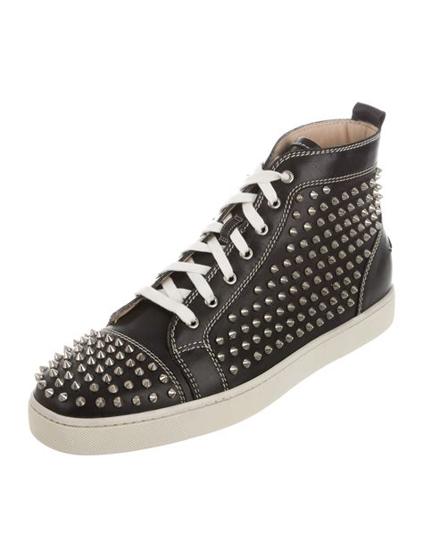 christian louboutin louis flat spikes sneakers shoes cht68533 the realreal