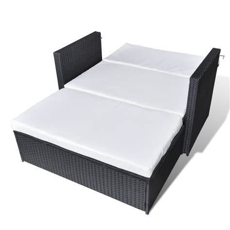3 in 1 sofa bed vidaxl 3 in 1 sofabed set folding rattan sofa bed