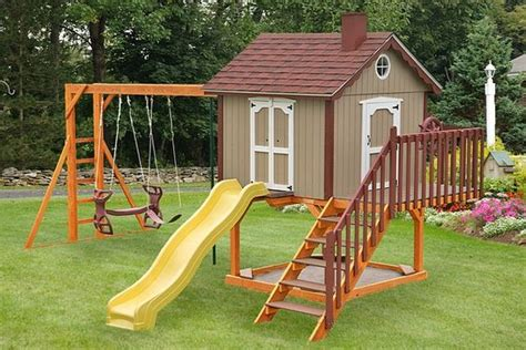 playhouse swing set combo 17 best images about swingset plans swings search and