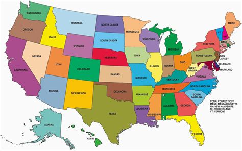map usa showiwng states usa map images