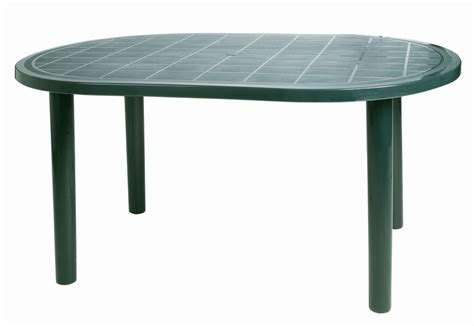 Green plastic garden table   Tables : Mince His Words