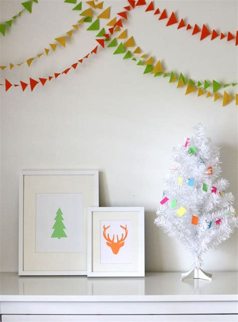printable christmas tree garland spreading holiday cheer to the nursery honest to nod