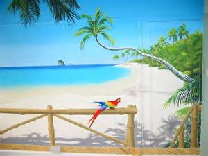 sacredart murals tropical paradise mural beach and tropical murals beach scene wallpaper