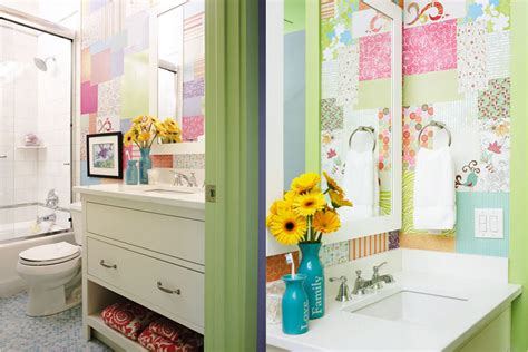 wallpaper for kids bathroom 20 designs of stylish bathroom wallpapers home design lover