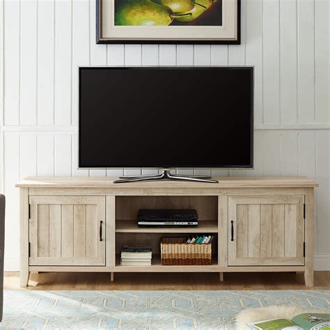 modern farmhouse tv stand storage console  side