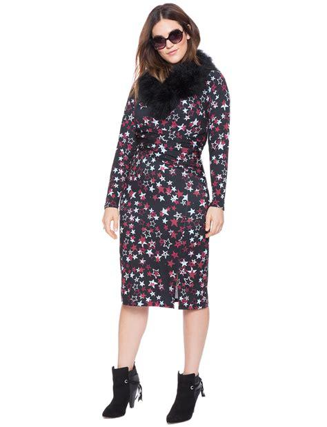 Printed Front Wrap Dress printed front wrap dress s plus size dresses eloquii