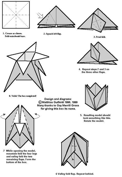 Origami Box Pdf - mike s origami origami diagram links boxes and containers