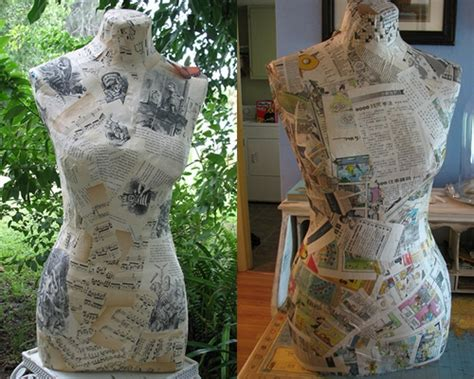 How To Make A Paper Mache Dress Form - dress form 12 crafty projects using newspapers and