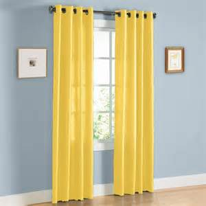Bright Yellow Curtains Hlc Me Pair Of Bright Yellow Faux Silk Grommet Curtain Panels 58 Quot By 95 Quot Inch