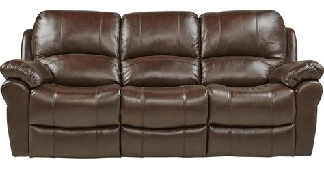 Brown Reclining Sofa Vercelli Brown Leather Reclining Sofa Contemporary