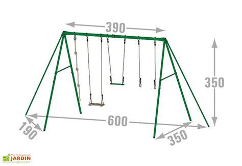 balancoire amca metal portique balan 231 oire m 233 tal adulte 3 50m silver amca