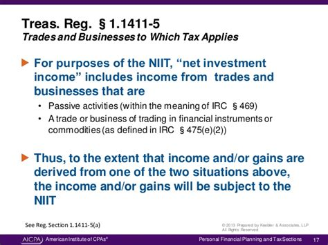 section 1411 business understanding the net investment income tax