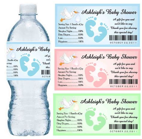 free water bottle labels for baby shower template 30 baby shower water bottle labels glossy waterproof