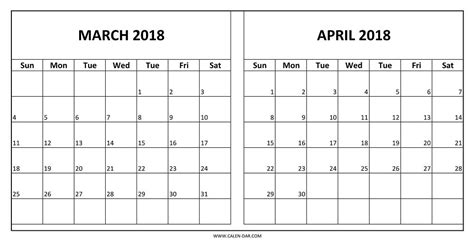 printable calendar march april 2018 march april 2018 calendar printable journalingsage com