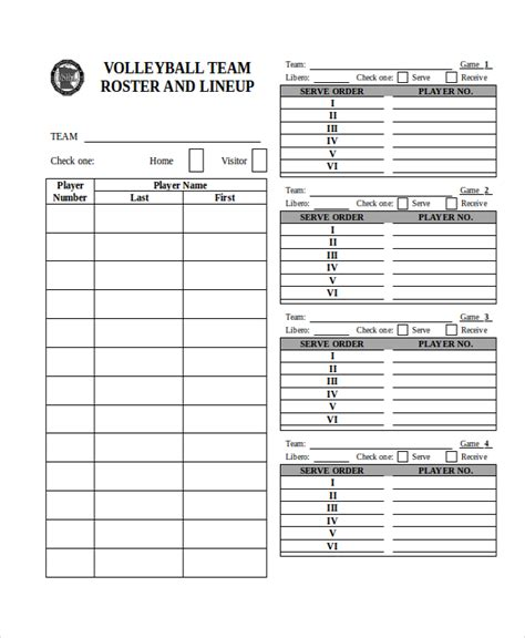 Lineup Card Template Hockey by 21 Roster Form Templates 0 Freesle Exle Format