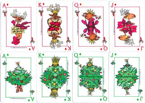 christmas playing cards  world  playing cards