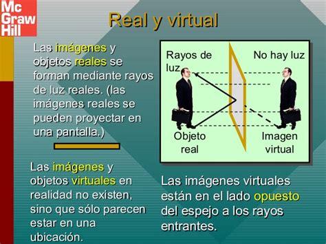 imagenes reales y virtuales definicion tippens fisica 7e diapositivas 34a