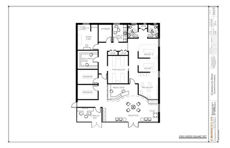 medical clinic floor plans chiropractic clinic floor plans