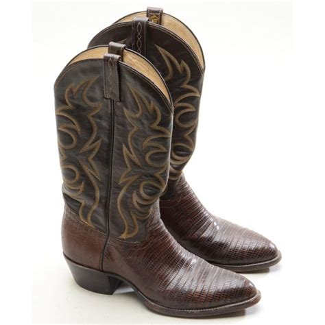 8 Pairs Of Boots I by Pair Of Handmade El Dorado Leather And Skin Cowboy