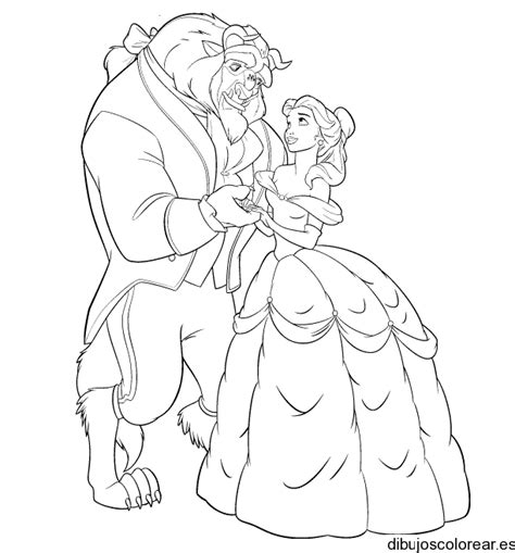 beauty and the beast characters coloring pages siudynet la bella y la bestia