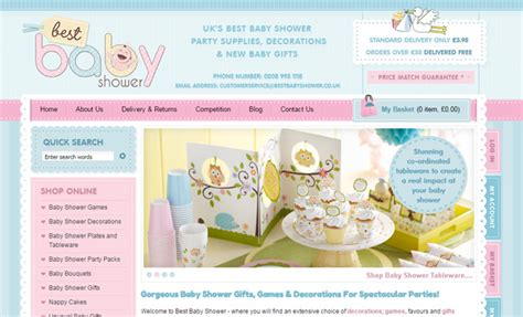 Web Baby Shower by 30 Inspiring Pastel Colored Website Layouts