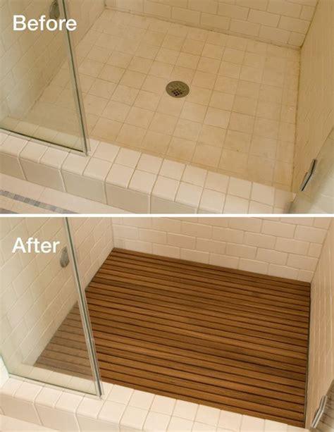 Teak Wood Shower Floor by Adding Teak To Your Shower Floor Instantly Upgrades The