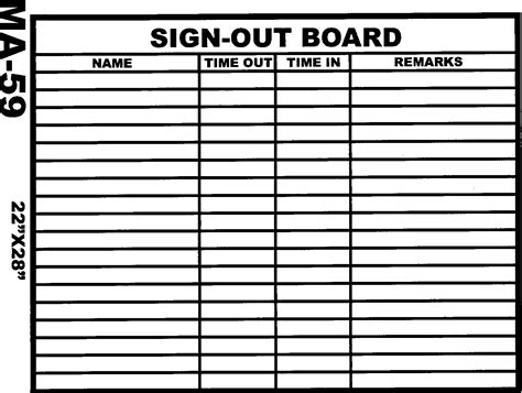 sign out sheet new calendar template site