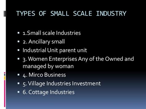 Types Of Cottage Industries by Ppt On Small Business